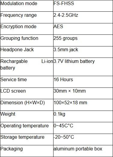 máy phiên dịch gonsin - thông số kĩ thuật thiết bị nhận