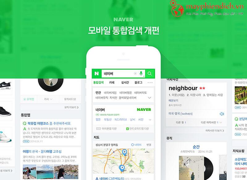 Phần mềm dịch Tiếng Hàn Naver