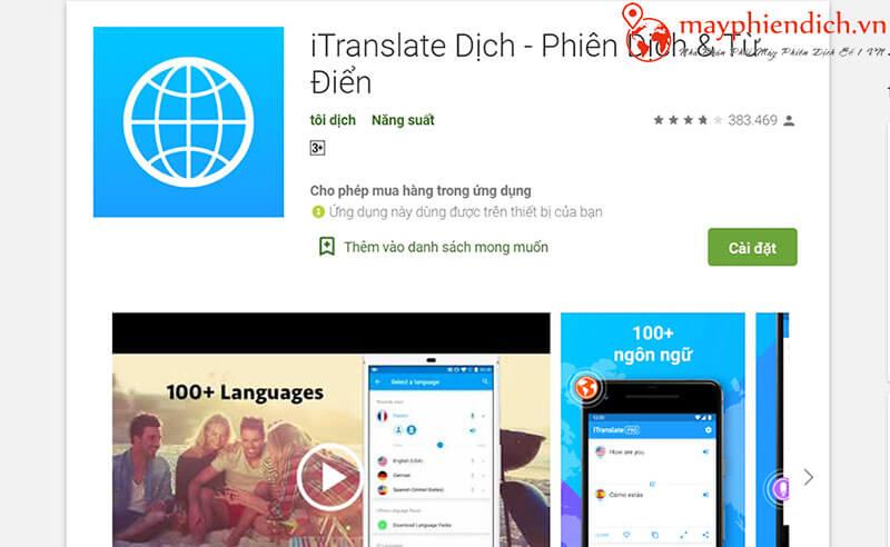 Phiên dịch và từ điển ITranslate Dịch