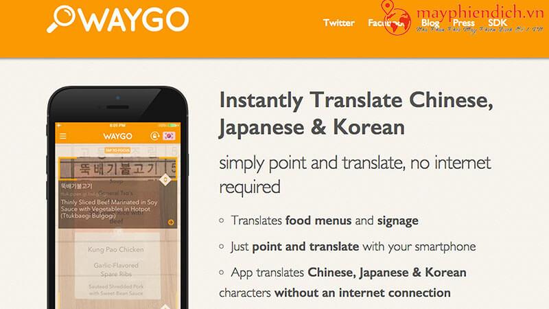 Dịch tiếng hàn bằng Waygo