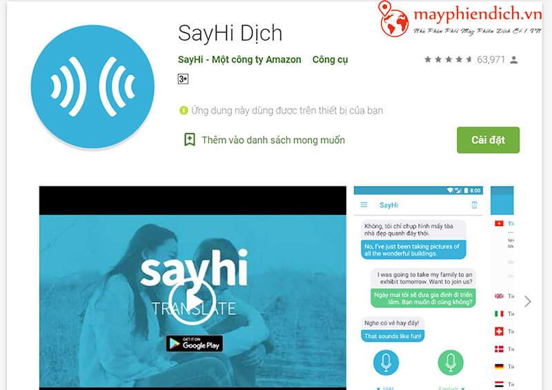 Phần mềm Sayhi
