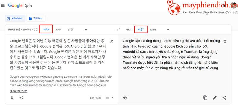 Phiên dịch cho máy tính Google dịch