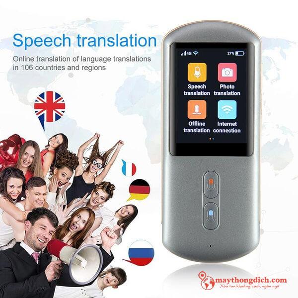 Máy phiên dịch Aturos dịch được hầu hết ngôn ngữ phổ biến trên thế giới
