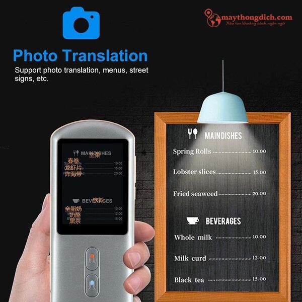 Tính năng dịch văn bản trên ảnh trên máy dịch ngoại ngữ Aturos F18