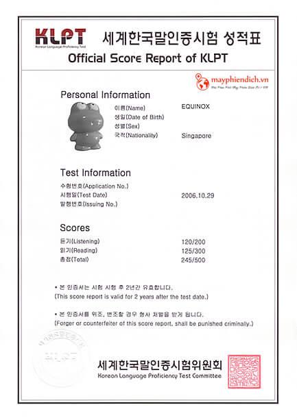 Thời gian học tiếng Hàn theo tiêu chuẩn của KLPT