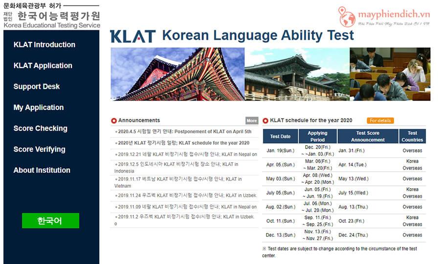 Chứng chỉ KLPT kiểm tra khả năng giao tiếp tiếng Hàn
