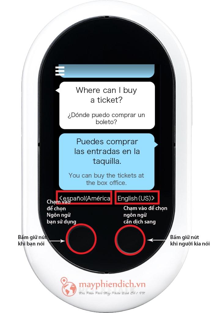 Cách sử dụng máy thông dịch Pocketalk