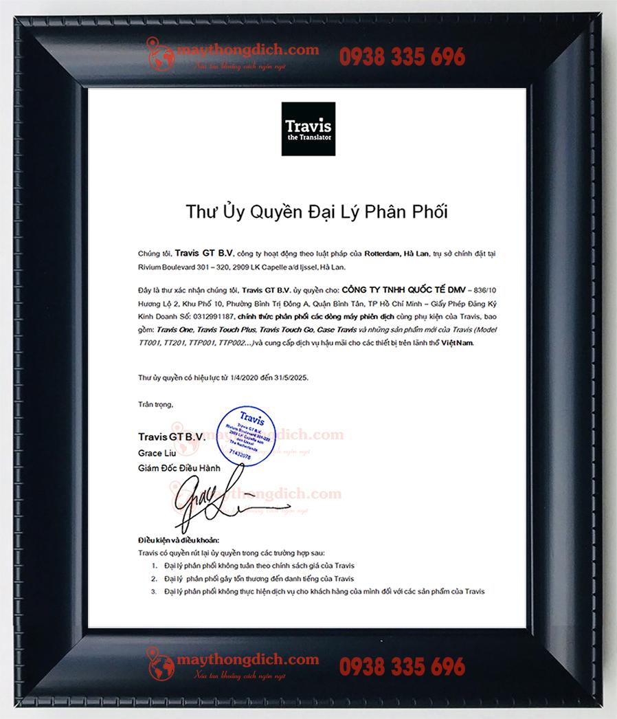 Nhà phân phối chính thức của TRAVIS tại Việt Nam