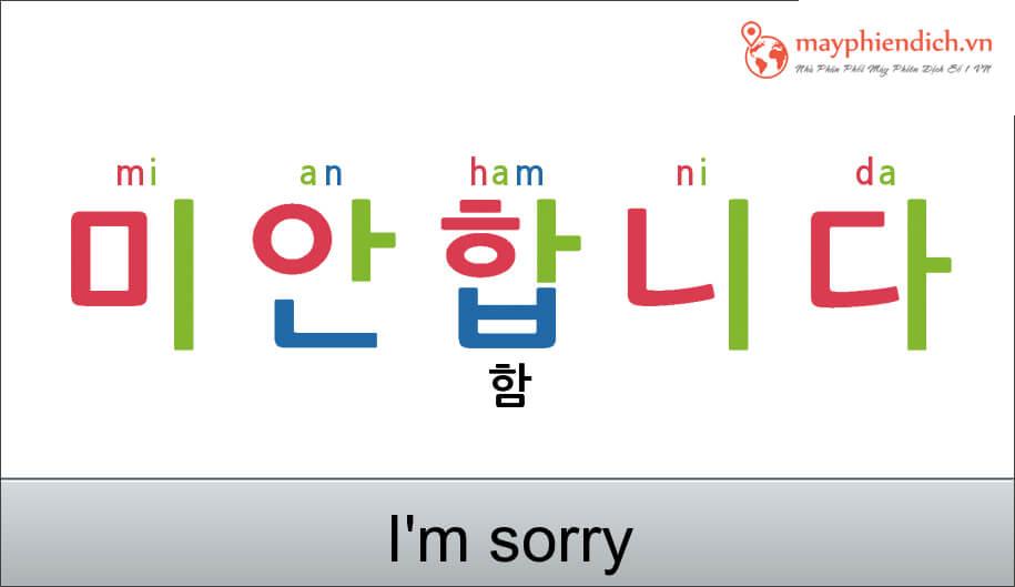 Xin lỗi một cách trang trọng bằng tiếng Hàn Quốc
